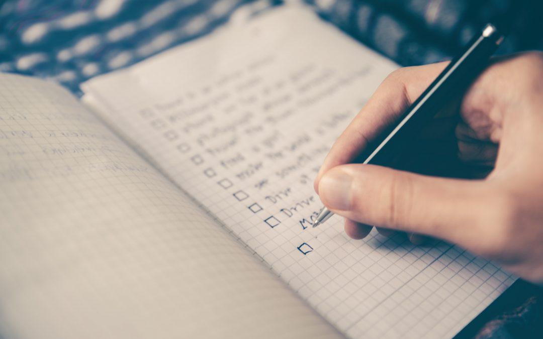 checklist para publicar un libro